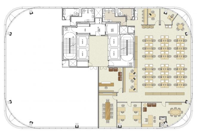 Floor plan with decoration suggestion