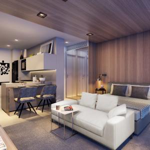 Living studio de 37m²