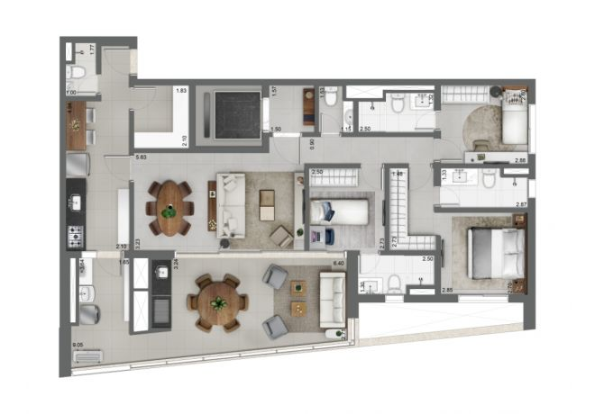 Grand Habitarte, PLANTA TIPO 131m²