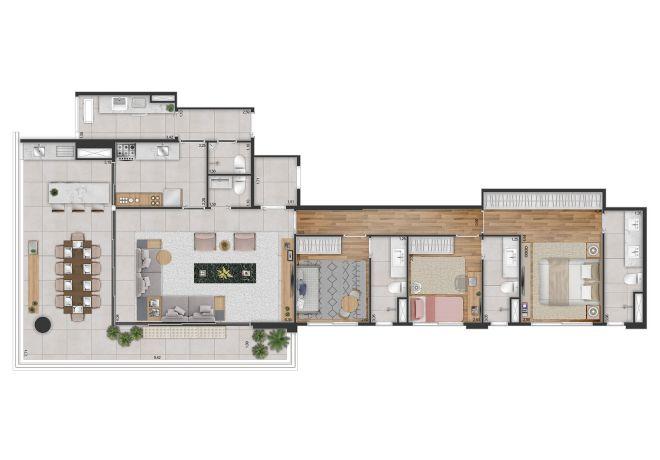 3 Dorms (suite)-Closed kitchen