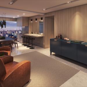 Living e terraço gourmet - 163m²