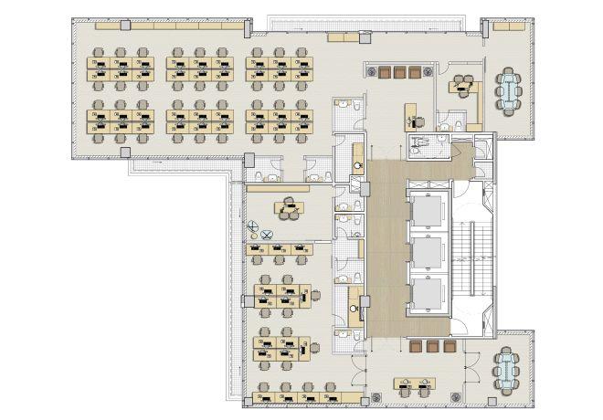 Planta do 4o Pavimento - Junção conjuntos 1 e 2 - 534m²