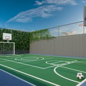 Illustrated Perspective Of The Mini Court