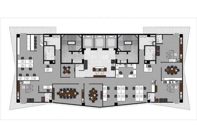 Joint plan of units 1 and 2 - 521,12 m²